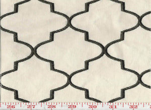 Hepburn CL Black Upholstery Fabric by KasLen Textiles
