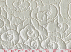 Silk Clouds CL Cream Quilted Silk Upholstery Fabric by Robert Kuo - S. Harris