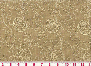 Reef Tracery CL Sandcastle Drapery Fabric by PK Lifestyles