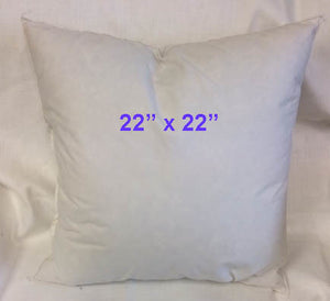 "22"" x  22"" --  25% Down 75% Feather Pillow Insert"