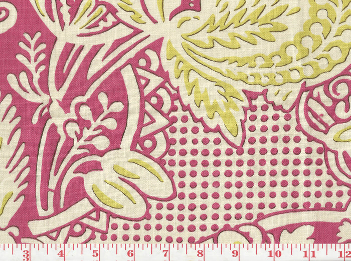 Rosina CL Pink Drapery Fabric by Clarence House