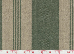 Mill Pond Stripe CL Hedge - Linen Upholstery Fabric by Ralph Lauren