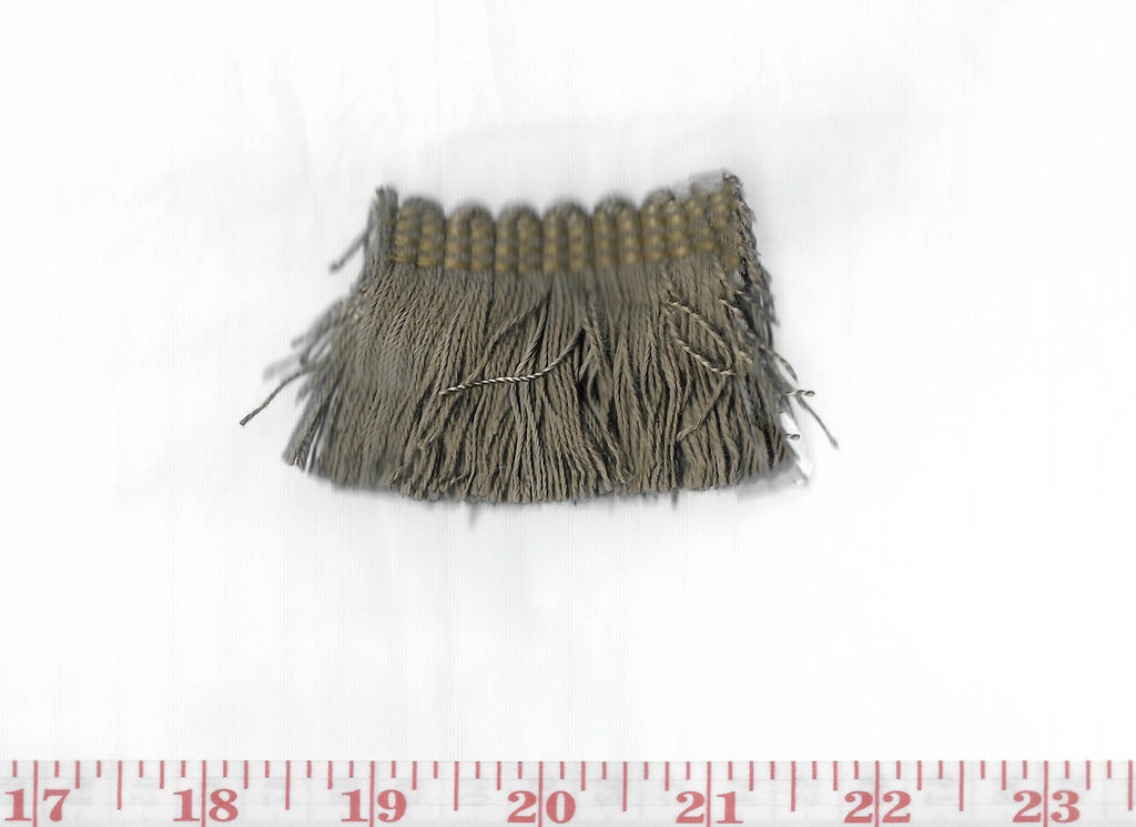 Domino Brushed Fringe CL Earth Brown Fabric Trim by Clarence House