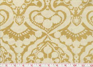 Arabesque Handprint CL Sun Drapery Upholstery Fabric by Laura & Kiran