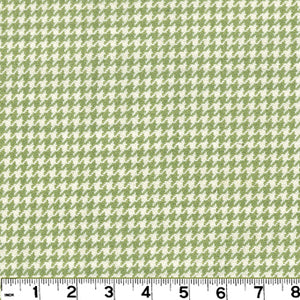 Houndstooth CL Honeydew Upholstery Fabric by Roth & Tompkins