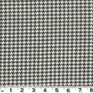 Houndstooth CL Charcoal Upholstery Fabric by Roth & Tompkins