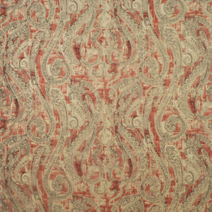 Carmen Paisley CL Red Drapery Upholstery Fabric by Clarence House