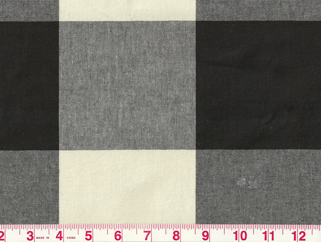 Buffalo Check CL Jet Upholstery Fabric by P Kaufmann