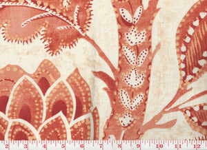 Java Tree CL Poppy Drapery Upholstery Fabric by P Kaufmann