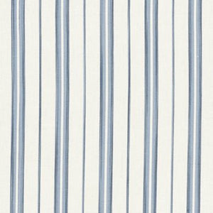 Cedar Point Stripe CL Sea Drapery Upholstery Fabric by Ralph Lauren