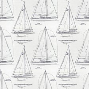 Chesapeake CL White Navy Drapery Upholstery Fabric by Ralph Lauren