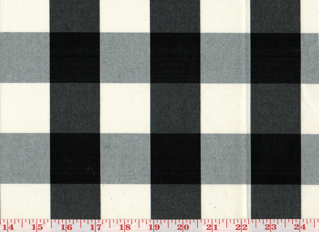 Squared CL Black Drapery Upholstery Fabric by Sheldon and Barnett