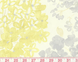 Flower Bed CL Kiwi Drapery Fabric by P Kaufmann