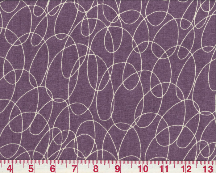 Scribble CL Plum Upholstery Fabric by PK Lifestyles