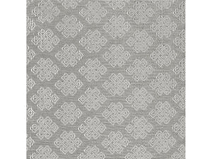 Basie Fretwork CL Silver Upholstery Fabric by Ralph Lauren