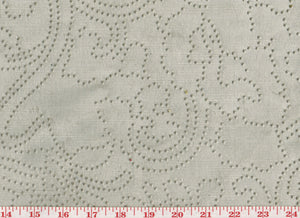Embossed Linen Velvet CL Ecru Velvet Upholstery Fabric by G-TEX