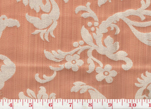 Florent Damask CL Salmon Upholstery Fabric by Clarence House