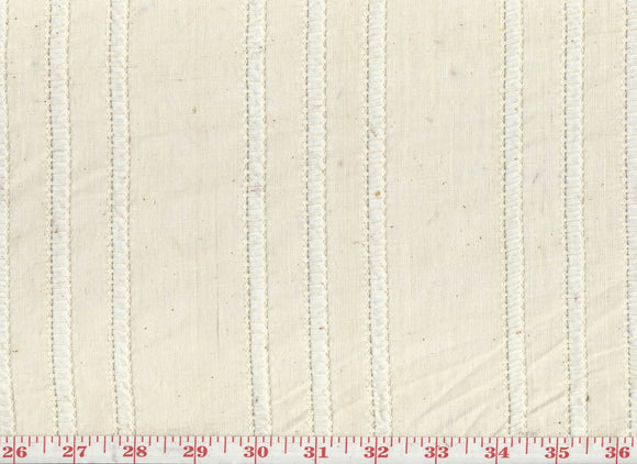 Hollyhock CL Parchment Sheer Drapery Fabric by Roth & Tompkins
