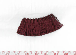 Domino Brushed Fringe CL Black Cherry Fabric Trim by Clarence House