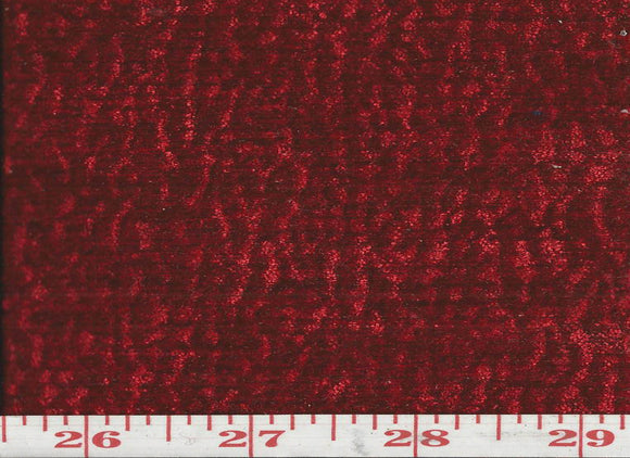 Everest CL Red Upholstery Fabric by KasLen Textiles