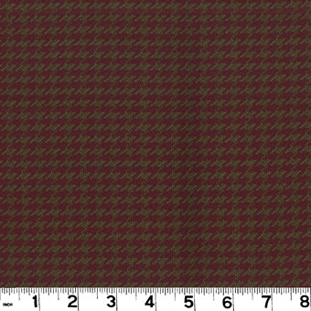 Houndstooth CL Burgundy Upholstery Fabric by Roth & Tompkins