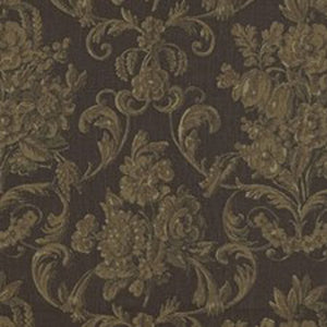 Drawing Room Blockprint CL Umber Drapery Upholstery Fabric by Ralph Lauren Fabrics