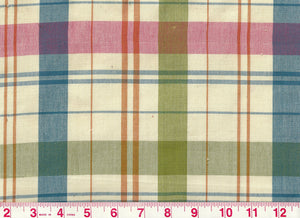 Caxton Check CL Blue Green Upholstery Fabric by Clarence House