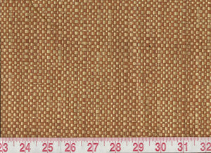 Hemp Texture  CL Burnt Orange Upholstery Drapery Fabric by American Silk Mills