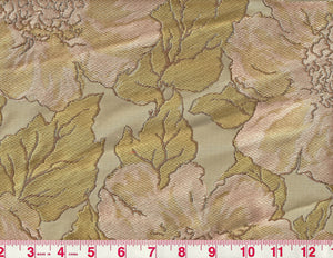 Chloe CL Tea Rose 100% Silk Lampas Upholstery Fabric