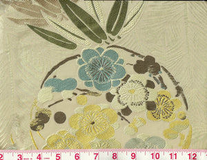 Imperial Garden CL Ivory Silk Lampas Upholstery Fabric