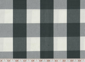 Squared CL Charcoal Drapery Upholstery Fabric by Sheldon and Barnett