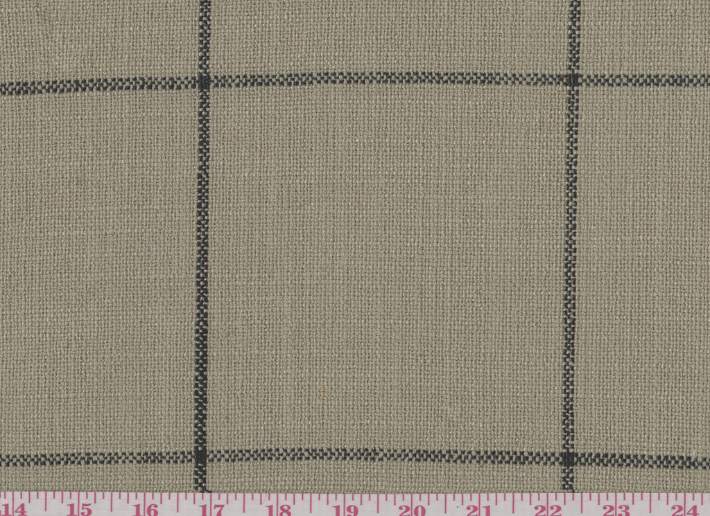 Captiva Plaid CL Khaki Upholstery Fabric by Golding Fabrics