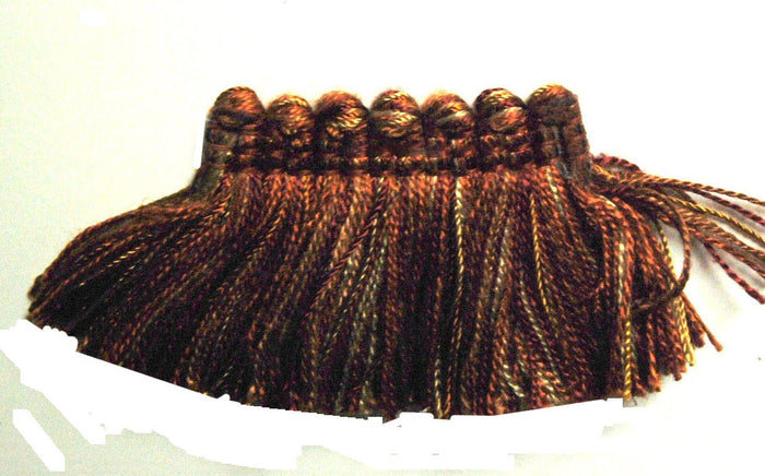 BR500 Brush Fringe / Rust (623) Fabric Trim