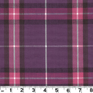 Harrison Plaid CL Plum Upholstery Fabric by Roth & Tompkins