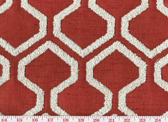 Raw Edges CL Paprika Drapery Upholstery Fabric by  P Kaufmann