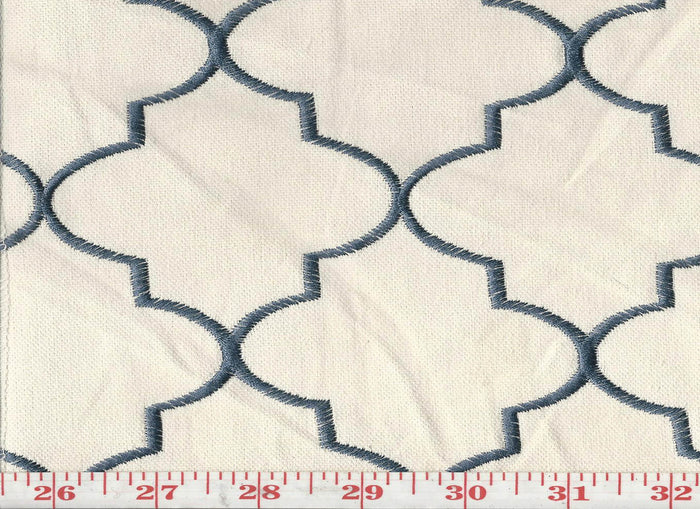 Hepburn CL Navy Upholstery Fabric by KasLen Textiles