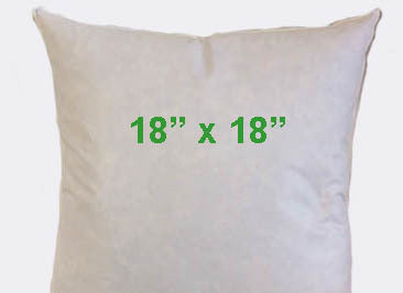 "18"" x 18"" --  25% Down 75% Feather Pillow Insert"
