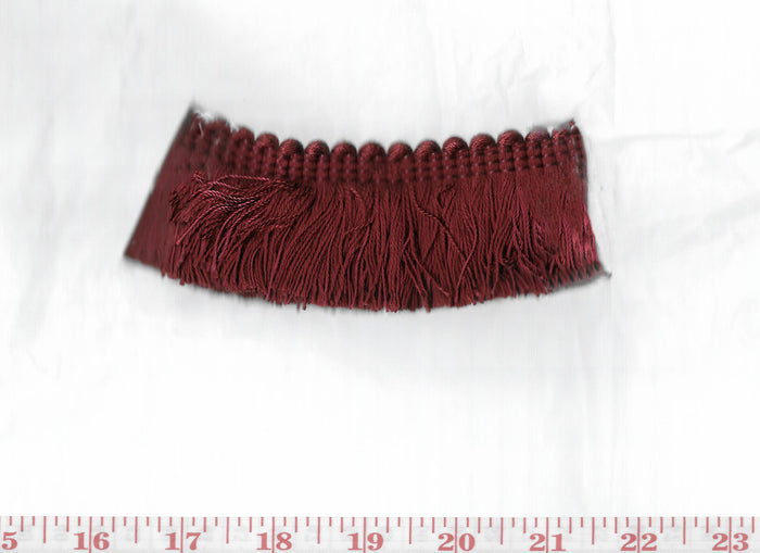 Domino Brushed Fringe CL Ruby Fabric Trim by Clarence House