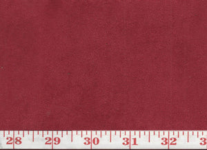 GEM  35 Suede CL Red Upholstery Fabric by KasLen Textiles