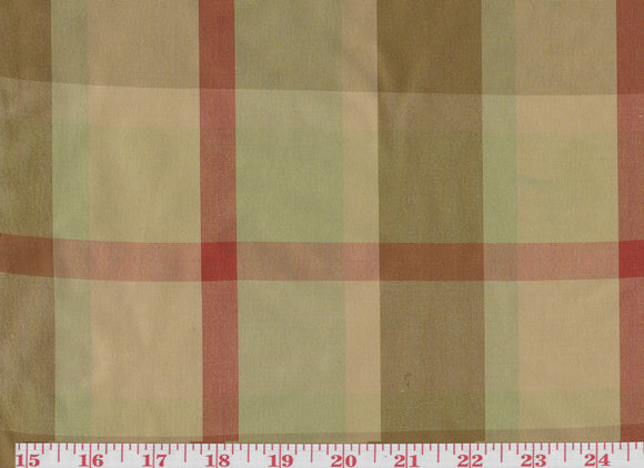 Lithgow Plaid CL Sandalwood Drapery Upholstery Fabric by Hill Brown