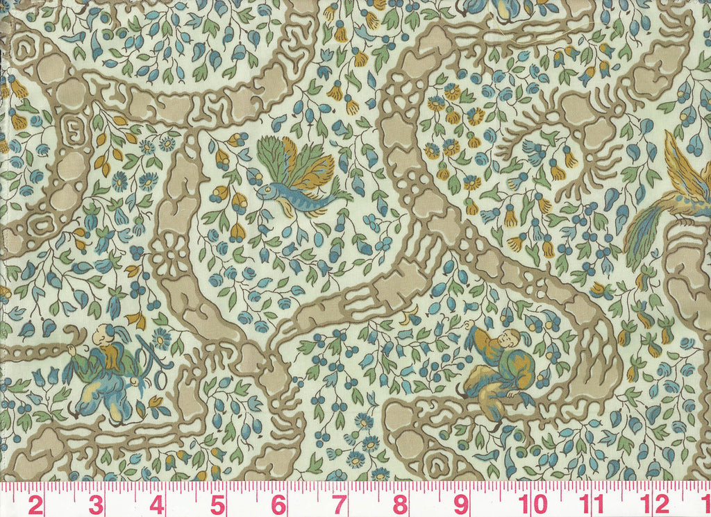 Peking CL Celadon Drapery Upholstery Fabric by Vervain