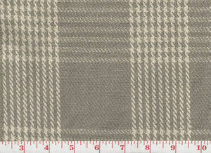 Mini Houndstooth Check CL Stone Upholstery Fabric by Laura & Kiran