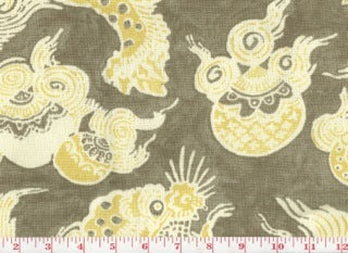 Dunmore Dragons CL Sepia Linen Upholstery Fabric by PK Lifestyles
