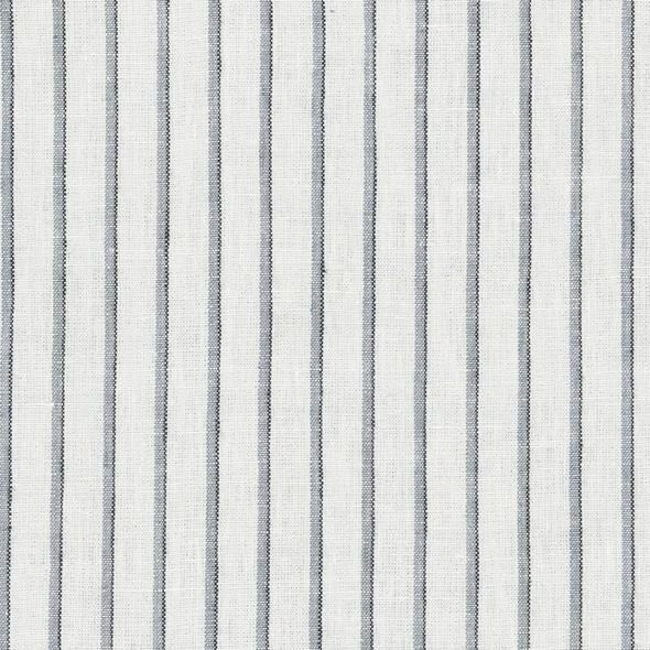 Emil Stripe CL Shirting Blue Drapery Fabric by Ralph Lauren