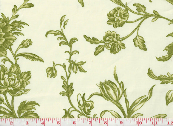 Spring Flowers CL Celadon Drapery Upholstery Fabric by PK Lifestyles