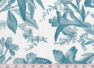 Indigo Bunting CL Spa Drapery Upholstery Fabric by P Kaufmann