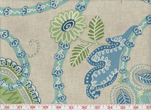 Irresistible CL Blue Drapery Upholstery Fabric by P Kaufmann