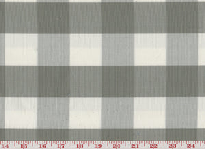 Squared CL Grey Drapery Upholstery Fabric by Sheldon and Barnett