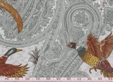Game Birds CL Dusk Drapery Upholstery Fabric by  P Kaufmann