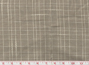 Echo Plaid CL Burlap Drapery Fabric by Robert Allen
